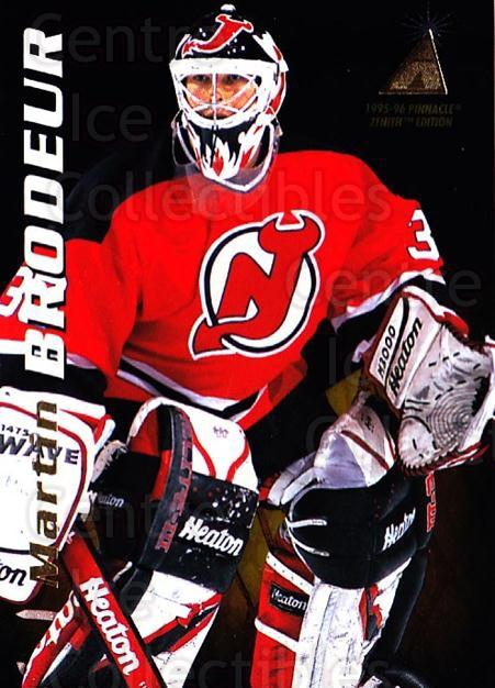 1995-96 Zenith #12 Martin Brodeur<br/>1 In Stock - $2.00 each - <a href=https://centericecollectibles.foxycart.com/cart?name=1995-96%20Zenith%20%2312%20Martin%20Brodeur...&quantity_max=1&price=$2.00&code=282212 class=foxycart> Buy it now! </a>