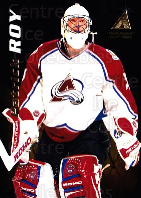 1995-96 Zenith #117 Patrick Roy<br/>2 In Stock - $5.00 each - <a href=https://centericecollectibles.foxycart.com/cart?name=1995-96%20Zenith%20%23117%20Patrick%20Roy...&quantity_max=2&price=$5.00&code=282222 class=foxycart> Buy it now! </a>