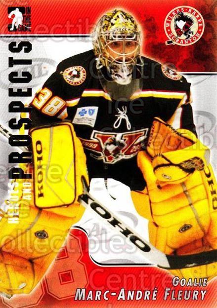 2004-05 ITG Heroes and Prospects #34 Marc-Andre Fleury<br/>25 In Stock - $2.00 each - <a href=https://centericecollectibles.foxycart.com/cart?name=2004-05%20ITG%20Heroes%20and%20Prospects%20%2334%20Marc-Andre%20Fleu...&quantity_max=25&price=$2.00&code=282296 class=foxycart> Buy it now! </a>