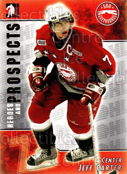 2004-05 ITG Heroes and Prospects #78 Jeff Carter<br/>31 In Stock - $2.00 each - <a href=https://centericecollectibles.foxycart.com/cart?name=2004-05%20ITG%20Heroes%20and%20Prospects%20%2378%20Jeff%20Carter...&quantity_max=31&price=$2.00&code=282302 class=foxycart> Buy it now! </a>