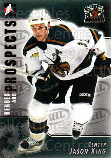 2004-05 ITG Heroes and Prospects #181 Jason King<br/>2 In Stock - $1.00 each - <a href=https://centericecollectibles.foxycart.com/cart?name=2004-05%20ITG%20Heroes%20and%20Prospects%20%23181%20Jason%20King...&quantity_max=2&price=$1.00&code=282318 class=foxycart> Buy it now! </a>