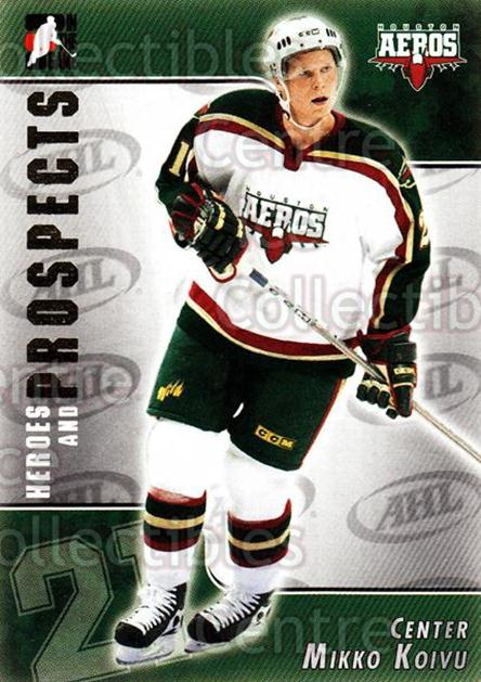 2004-05 ITG Heroes and Prospects #186 Mikko Koivu<br/>4 In Stock - $1.00 each - <a href=https://centericecollectibles.foxycart.com/cart?name=2004-05%20ITG%20Heroes%20and%20Prospects%20%23186%20Mikko%20Koivu...&quantity_max=4&price=$1.00&code=282323 class=foxycart> Buy it now! </a>