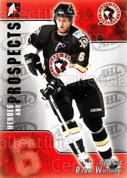 2004-05 ITG Heroes and Prospects #187 Ryan Whitney<br/>5 In Stock - $1.00 each - <a href=https://centericecollectibles.foxycart.com/cart?name=2004-05%20ITG%20Heroes%20and%20Prospects%20%23187%20Ryan%20Whitney...&quantity_max=5&price=$1.00&code=282324 class=foxycart> Buy it now! </a>