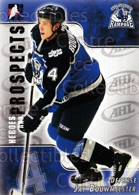 2004-05 ITG Heroes and Prospects #194 Jay Bouwmeester<br/>5 In Stock - $1.00 each - <a href=https://centericecollectibles.foxycart.com/cart?name=2004-05%20ITG%20Heroes%20and%20Prospects%20%23194%20Jay%20Bouwmeester...&quantity_max=5&price=$1.00&code=282331 class=foxycart> Buy it now! </a>