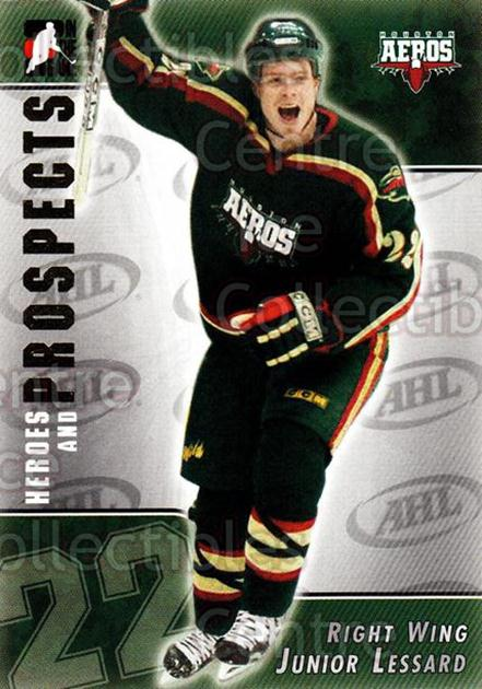 2004-05 ITG Heroes and Prospects #200 Junior Lessard<br/>5 In Stock - $1.00 each - <a href=https://centericecollectibles.foxycart.com/cart?name=2004-05%20ITG%20Heroes%20and%20Prospects%20%23200%20Junior%20Lessard...&quantity_max=5&price=$1.00&code=282337 class=foxycart> Buy it now! </a>
