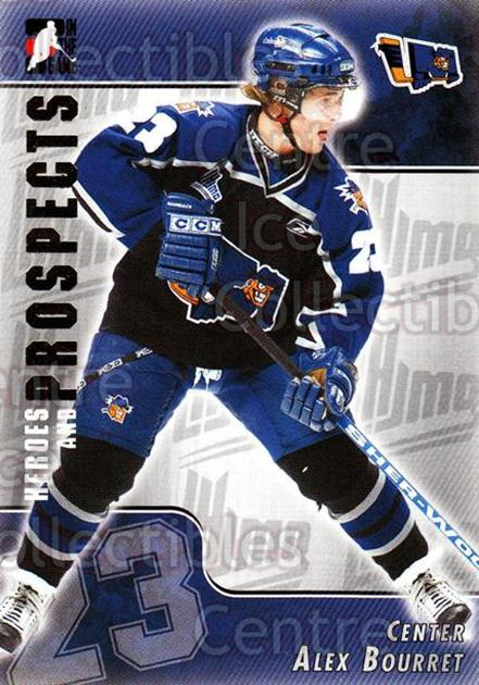 2004-05 ITG Heroes and Prospects #207 Alex Bourret<br/>3 In Stock - $1.00 each - <a href=https://centericecollectibles.foxycart.com/cart?name=2004-05%20ITG%20Heroes%20and%20Prospects%20%23207%20Alex%20Bourret...&quantity_max=3&price=$1.00&code=282344 class=foxycart> Buy it now! </a>