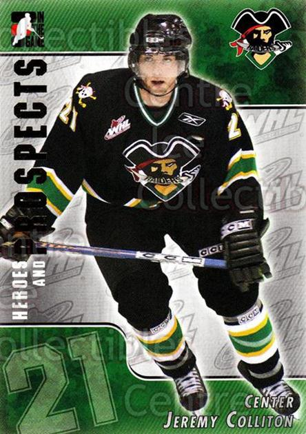2004-05 ITG Heroes and Prospects #211 Jeremy Colliton<br/>3 In Stock - $1.00 each - <a href=https://centericecollectibles.foxycart.com/cart?name=2004-05%20ITG%20Heroes%20and%20Prospects%20%23211%20Jeremy%20Colliton...&quantity_max=3&price=$1.00&code=282348 class=foxycart> Buy it now! </a>