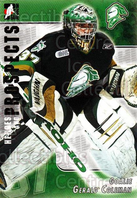 2004-05 ITG Heroes and Prospects #230 Gerald Coleman<br/>4 In Stock - $1.00 each - <a href=https://centericecollectibles.foxycart.com/cart?name=2004-05%20ITG%20Heroes%20and%20Prospects%20%23230%20Gerald%20Coleman...&quantity_max=4&price=$1.00&code=282367 class=foxycart> Buy it now! </a>