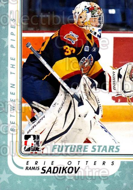 2010-11 Between The Pipes #37 Ramis Sadikov<br/>19 In Stock - $1.00 each - <a href=https://centericecollectibles.foxycart.com/cart?name=2010-11%20Between%20The%20Pipes%20%2337%20Ramis%20Sadikov...&price=$1.00&code=282405 class=foxycart> Buy it now! </a>