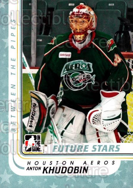 2010-11 Between The Pipes #48 Anton Khudobin<br/>20 In Stock - $1.00 each - <a href=https://centericecollectibles.foxycart.com/cart?name=2010-11%20Between%20The%20Pipes%20%2348%20Anton%20Khudobin...&price=$1.00&code=282416 class=foxycart> Buy it now! </a>