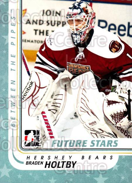 2010-11 Between The Pipes #51 Braden Holtby<br/>17 In Stock - $1.00 each - <a href=https://centericecollectibles.foxycart.com/cart?name=2010-11%20Between%20The%20Pipes%20%2351%20Braden%20Holtby...&price=$1.00&code=282419 class=foxycart> Buy it now! </a>
