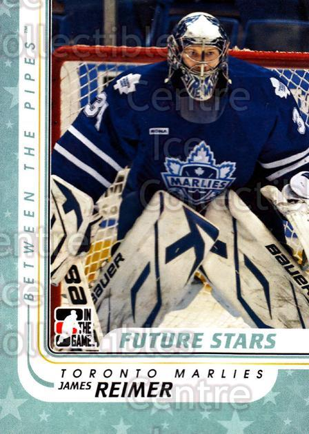 2010-11 Between The Pipes #61 James Reimer<br/>10 In Stock - $2.00 each - <a href=https://centericecollectibles.foxycart.com/cart?name=2010-11%20Between%20The%20Pipes%20%2361%20James%20Reimer...&price=$2.00&code=282429 class=foxycart> Buy it now! </a>