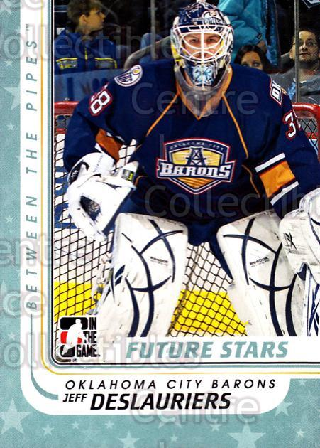 2010-11 Between The Pipes #63 Jeff Deslauriers<br/>14 In Stock - $1.00 each - <a href=https://centericecollectibles.foxycart.com/cart?name=2010-11%20Between%20The%20Pipes%20%2363%20Jeff%20Deslaurier...&quantity_max=14&price=$1.00&code=282431 class=foxycart> Buy it now! </a>