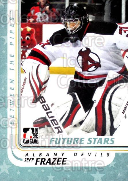 2010-11 Between The Pipes #64 Jeff Frazee<br/>17 In Stock - $1.00 each - <a href=https://centericecollectibles.foxycart.com/cart?name=2010-11%20Between%20The%20Pipes%20%2364%20Jeff%20Frazee...&price=$1.00&code=282432 class=foxycart> Buy it now! </a>