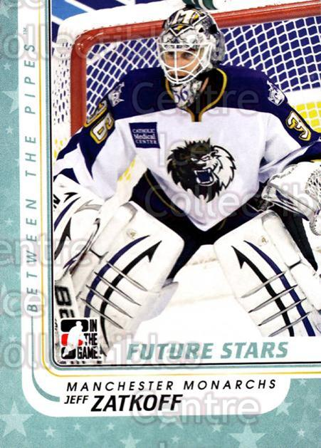 2010-11 Between The Pipes #65 Jeff Zatkoff<br/>18 In Stock - $1.00 each - <a href=https://centericecollectibles.foxycart.com/cart?name=2010-11%20Between%20The%20Pipes%20%2365%20Jeff%20Zatkoff...&price=$1.00&code=282433 class=foxycart> Buy it now! </a>