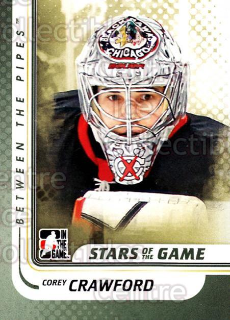 2010-11 Between The Pipes #97 Corey Crawford<br/>17 In Stock - $1.00 each - <a href=https://centericecollectibles.foxycart.com/cart?name=2010-11%20Between%20The%20Pipes%20%2397%20Corey%20Crawford...&price=$1.00&code=282465 class=foxycart> Buy it now! </a>