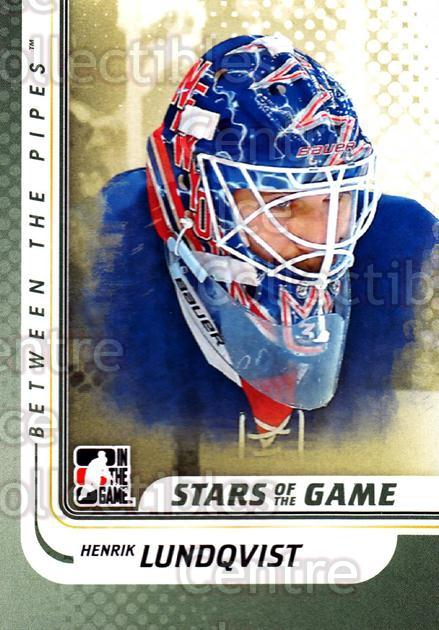 2010-11 Between The Pipes #105 Henrik Lundqvist<br/>18 In Stock - $1.00 each - <a href=https://centericecollectibles.foxycart.com/cart?name=2010-11%20Between%20The%20Pipes%20%23105%20Henrik%20Lundqvis...&price=$1.00&code=282473 class=foxycart> Buy it now! </a>