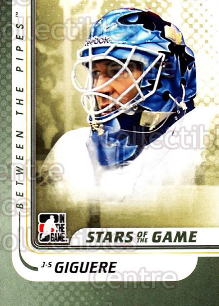 2010-11 Between The Pipes #107 Jean-Sebastien Giguere<br/>20 In Stock - $1.00 each - <a href=https://centericecollectibles.foxycart.com/cart?name=2010-11%20Between%20The%20Pipes%20%23107%20Jean-Sebastien%20...&price=$1.00&code=282475 class=foxycart> Buy it now! </a>