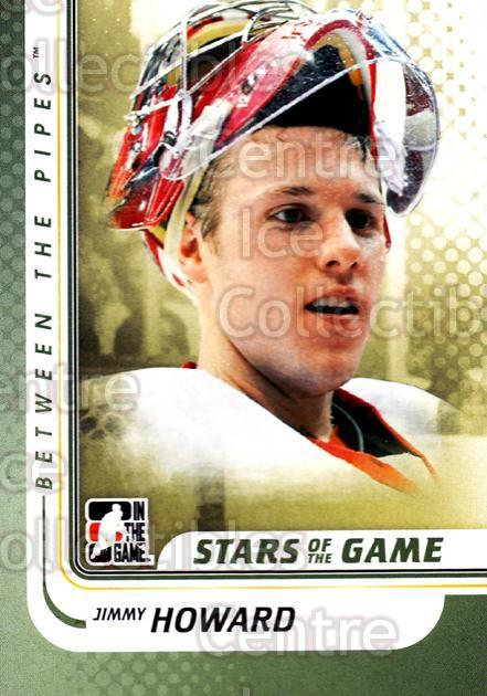 2010-11 Between The Pipes #110 Jimmy Howard<br/>20 In Stock - $1.00 each - <a href=https://centericecollectibles.foxycart.com/cart?name=2010-11%20Between%20The%20Pipes%20%23110%20Jimmy%20Howard...&price=$1.00&code=282478 class=foxycart> Buy it now! </a>