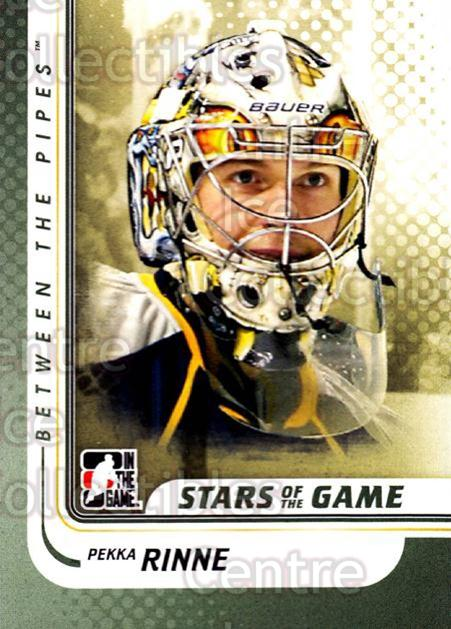 2010-11 Between The Pipes #132 Pekka Rinne<br/>19 In Stock - $1.00 each - <a href=https://centericecollectibles.foxycart.com/cart?name=2010-11%20Between%20The%20Pipes%20%23132%20Pekka%20Rinne...&price=$1.00&code=282500 class=foxycart> Buy it now! </a>
