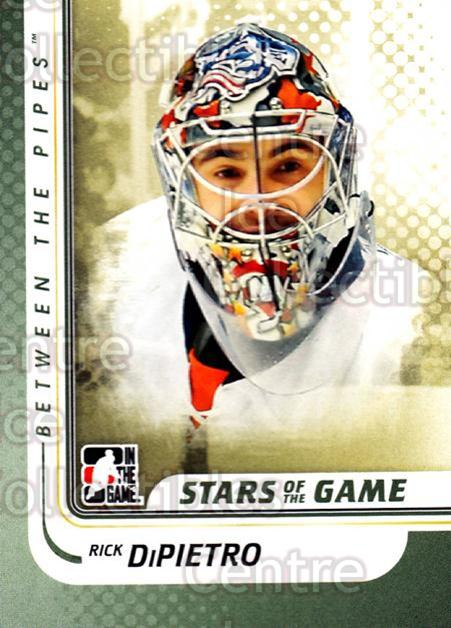 2010-11 Between The Pipes #134 Rick DiPietro<br/>20 In Stock - $1.00 each - <a href=https://centericecollectibles.foxycart.com/cart?name=2010-11%20Between%20The%20Pipes%20%23134%20Rick%20DiPietro...&price=$1.00&code=282502 class=foxycart> Buy it now! </a>