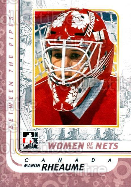 2010-11 Between The Pipes #190 Manon Rheaume<br/>13 In Stock - $1.00 each - <a href=https://centericecollectibles.foxycart.com/cart?name=2010-11%20Between%20The%20Pipes%20%23190%20Manon%20Rheaume...&price=$1.00&code=282558 class=foxycart> Buy it now! </a>