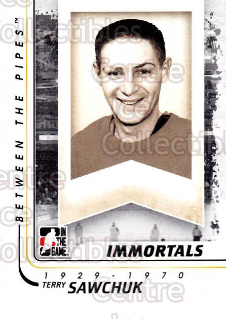 2010-11 Between The Pipes #191 Terry Sawchuk<br/>20 In Stock - $1.00 each - <a href=https://centericecollectibles.foxycart.com/cart?name=2010-11%20Between%20The%20Pipes%20%23191%20Terry%20Sawchuk...&price=$1.00&code=282559 class=foxycart> Buy it now! </a>