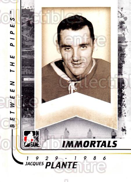 2010-11 Between The Pipes #195 Jacques Plante<br/>20 In Stock - $1.00 each - <a href=https://centericecollectibles.foxycart.com/cart?name=2010-11%20Between%20The%20Pipes%20%23195%20Jacques%20Plante...&price=$1.00&code=282563 class=foxycart> Buy it now! </a>