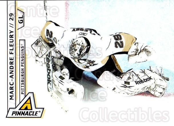 2010-11 Pinnacle #44 Marc-Andre Fleury<br/>4 In Stock - $2.00 each - <a href=https://centericecollectibles.foxycart.com/cart?name=2010-11%20Pinnacle%20%2344%20Marc-Andre%20Fleu...&quantity_max=4&price=$2.00&code=282660 class=foxycart> Buy it now! </a>