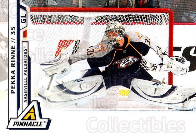2010-11 Pinnacle #86 Pekka Rinne<br/>6 In Stock - $1.00 each - <a href=https://centericecollectibles.foxycart.com/cart?name=2010-11%20Pinnacle%20%2386%20Pekka%20Rinne...&quantity_max=6&price=$1.00&code=282702 class=foxycart> Buy it now! </a>