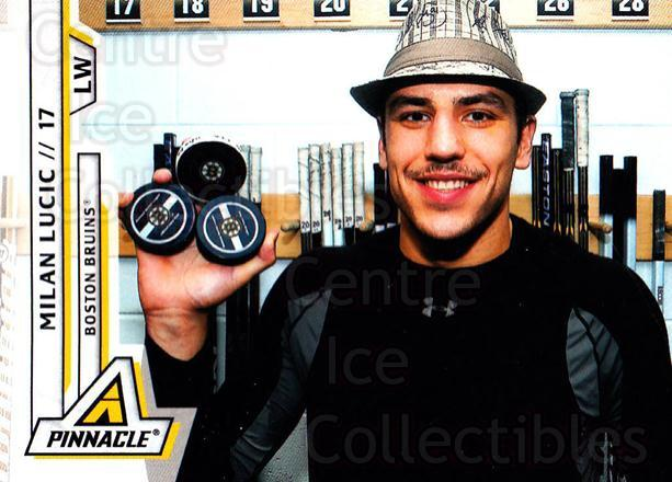 2010-11 Pinnacle #184 Milan Lucic<br/>7 In Stock - $1.00 each - <a href=https://centericecollectibles.foxycart.com/cart?name=2010-11%20Pinnacle%20%23184%20Milan%20Lucic...&quantity_max=7&price=$1.00&code=282800 class=foxycart> Buy it now! </a>