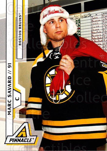 2010-11 Pinnacle #186 Marc Savard<br/>7 In Stock - $1.00 each - <a href=https://centericecollectibles.foxycart.com/cart?name=2010-11%20Pinnacle%20%23186%20Marc%20Savard...&quantity_max=7&price=$1.00&code=282802 class=foxycart> Buy it now! </a>