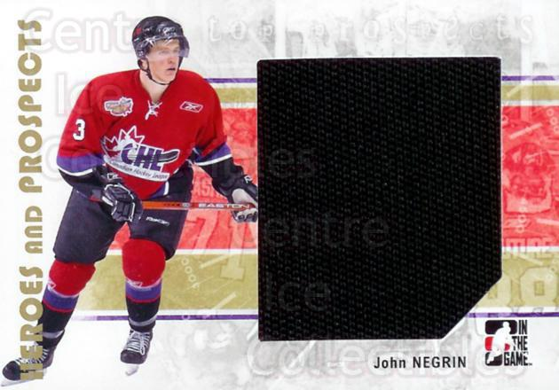 2007-08 ITG Heroes and Prospects #109 John Negrin<br/>1 In Stock - $5.00 each - <a href=https://centericecollectibles.foxycart.com/cart?name=2007-08%20ITG%20Heroes%20and%20Prospects%20%23109%20John%20Negrin...&price=$5.00&code=282895 class=foxycart> Buy it now! </a>
