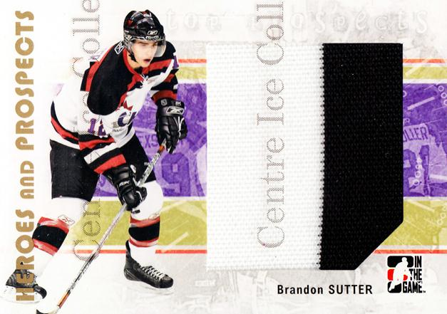 2007-08 ITG Heroes and Prospects #120 Brandon Sutter<br/>3 In Stock - $5.00 each - <a href=https://centericecollectibles.foxycart.com/cart?name=2007-08%20ITG%20Heroes%20and%20Prospects%20%23120%20Brandon%20Sutter...&price=$5.00&code=282906 class=foxycart> Buy it now! </a>