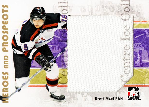 2007-08 ITG Heroes and Prospects #127 Brett MacLean<br/>3 In Stock - $5.00 each - <a href=https://centericecollectibles.foxycart.com/cart?name=2007-08%20ITG%20Heroes%20and%20Prospects%20%23127%20Brett%20MacLean...&price=$5.00&code=282913 class=foxycart> Buy it now! </a>