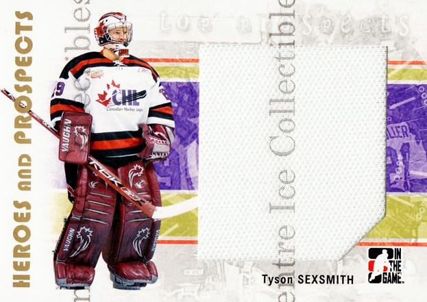 2007-08 ITG Heroes and Prospects #128 Tyson Sexsmith<br/>1 In Stock - $5.00 each - <a href=https://centericecollectibles.foxycart.com/cart?name=2007-08%20ITG%20Heroes%20and%20Prospects%20%23128%20Tyson%20Sexsmith...&price=$5.00&code=282914 class=foxycart> Buy it now! </a>