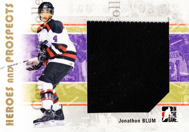 2007-08 ITG Heroes and Prospects #130 Jonathon Blum<br/>3 In Stock - $5.00 each - <a href=https://centericecollectibles.foxycart.com/cart?name=2007-08%20ITG%20Heroes%20and%20Prospects%20%23130%20Jonathon%20Blum...&price=$5.00&code=282916 class=foxycart> Buy it now! </a>