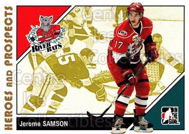 2007-08 ITG Heroes and Prospects #155 Jerome Samson<br/>19 In Stock - $1.00 each - <a href=https://centericecollectibles.foxycart.com/cart?name=2007-08%20ITG%20Heroes%20and%20Prospects%20%23155%20Jerome%20Samson...&price=$1.00&code=282928 class=foxycart> Buy it now! </a>