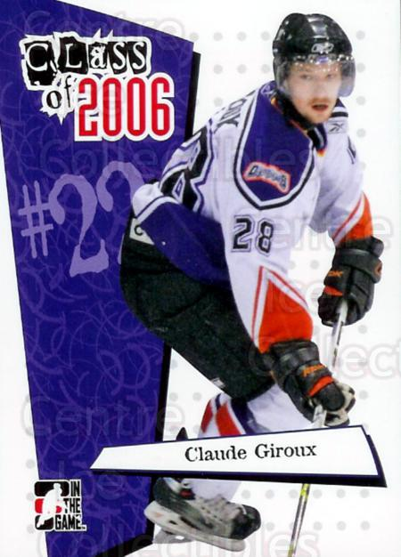 2006-07 ITG Heroes and Prospects Class of 2006 #13 Claude Giroux<br/>5 In Stock - $3.00 each - <a href=https://centericecollectibles.foxycart.com/cart?name=2006-07%20ITG%20Heroes%20and%20Prospects%20Class%20of%202006%20%2313%20Claude%20Giroux...&quantity_max=5&price=$3.00&code=282937 class=foxycart> Buy it now! </a>