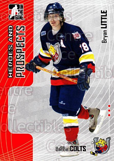 2005-06 ITG Heroes and Prospects #120 Bryan Little<br/>18 In Stock - $1.00 each - <a href=https://centericecollectibles.foxycart.com/cart?name=2005-06%20ITG%20Heroes%20and%20Prospects%20%23120%20Bryan%20Little...&price=$1.00&code=282969 class=foxycart> Buy it now! </a>