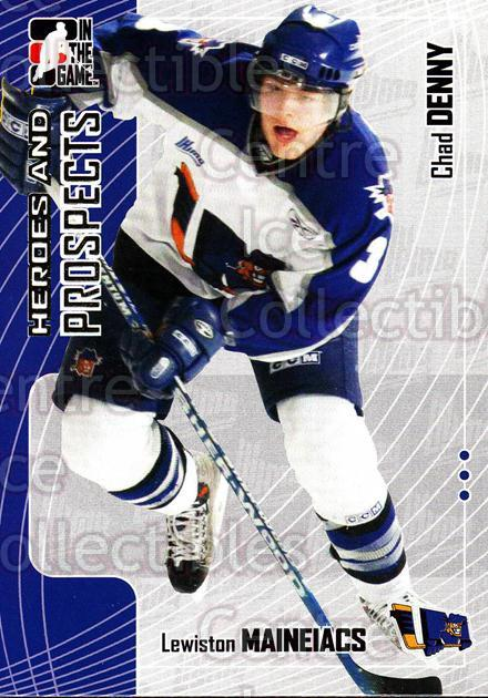 2005-06 ITG Heroes and Prospects #142 Chad Denny<br/>17 In Stock - $1.00 each - <a href=https://centericecollectibles.foxycart.com/cart?name=2005-06%20ITG%20Heroes%20and%20Prospects%20%23142%20Chad%20Denny...&price=$1.00&code=282973 class=foxycart> Buy it now! </a>