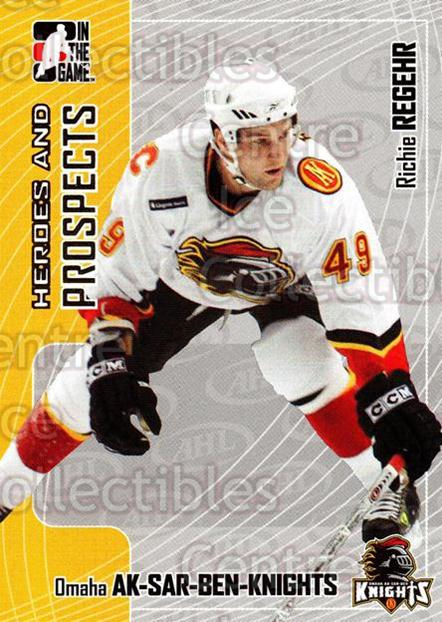 2005-06 ITG Heroes and Prospects #390 Richie Regehr<br/>16 In Stock - $1.00 each - <a href=https://centericecollectibles.foxycart.com/cart?name=2005-06%20ITG%20Heroes%20and%20Prospects%20%23390%20Richie%20Regehr...&price=$1.00&code=282984 class=foxycart> Buy it now! </a>