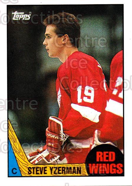 1987-88 Topps #56 Steve Yzerman<br/>3 In Stock - $5.00 each - <a href=https://centericecollectibles.foxycart.com/cart?name=1987-88%20Topps%20%2356%20Steve%20Yzerman...&quantity_max=3&price=$5.00&code=283018 class=foxycart> Buy it now! </a>