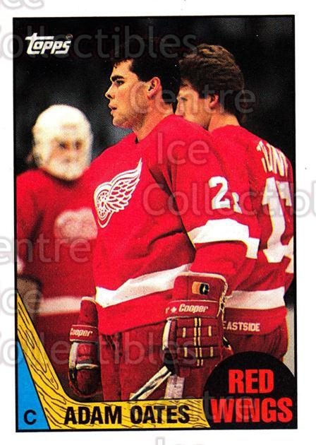 1987-88 Topps #123 Adam Oates<br/>2 In Stock - $5.00 each - <a href=https://centericecollectibles.foxycart.com/cart?name=1987-88%20Topps%20%23123%20Adam%20Oates...&price=$5.00&code=283019 class=foxycart> Buy it now! </a>