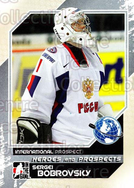 2010-11 ITG Heroes and Prospects #10 Sergei Bobrovsky<br/>19 In Stock - $1.00 each - <a href=https://centericecollectibles.foxycart.com/cart?name=2010-11%20ITG%20Heroes%20and%20Prospects%20%2310%20Sergei%20Bobrovsk...&quantity_max=19&price=$1.00&code=283089 class=foxycart> Buy it now! </a>