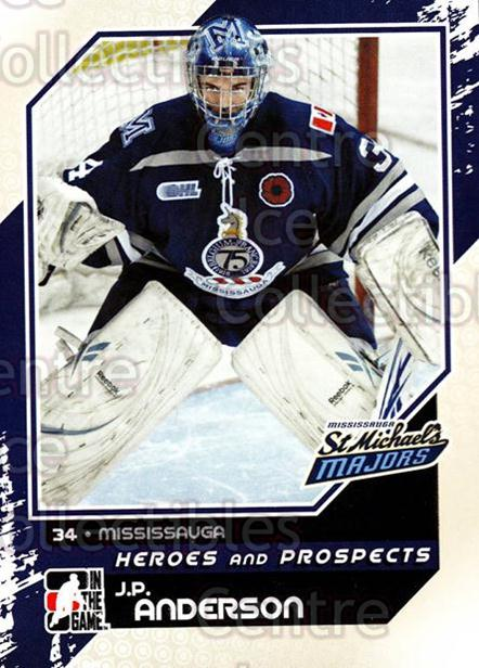 2010-11 ITG Heroes and Prospects #12 JP Anderson<br/>25 In Stock - $1.00 each - <a href=https://centericecollectibles.foxycart.com/cart?name=2010-11%20ITG%20Heroes%20and%20Prospects%20%2312%20JP%20Anderson...&quantity_max=25&price=$1.00&code=283091 class=foxycart> Buy it now! </a>
