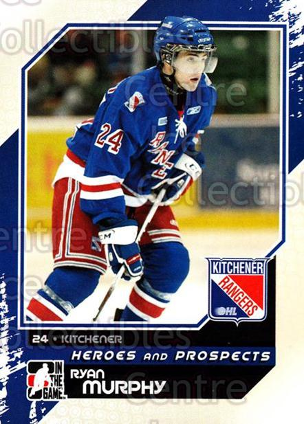 2010-11 ITG Heroes and Prospects #14 Ryan Murphy<br/>22 In Stock - $1.00 each - <a href=https://centericecollectibles.foxycart.com/cart?name=2010-11%20ITG%20Heroes%20and%20Prospects%20%2314%20Ryan%20Murphy...&quantity_max=22&price=$1.00&code=283093 class=foxycart> Buy it now! </a>