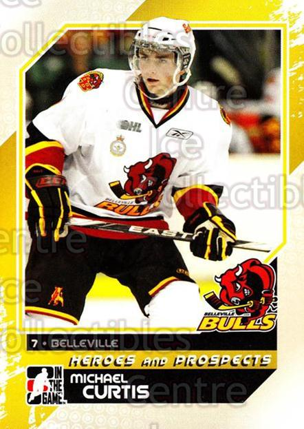 2010-11 ITG Heroes and Prospects #19 Michael Curtis<br/>22 In Stock - $1.00 each - <a href=https://centericecollectibles.foxycart.com/cart?name=2010-11%20ITG%20Heroes%20and%20Prospects%20%2319%20Michael%20Curtis...&price=$1.00&code=283098 class=foxycart> Buy it now! </a>