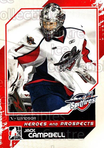 2010-11 ITG Heroes and Prospects #23 Jack Campbell<br/>25 In Stock - $1.00 each - <a href=https://centericecollectibles.foxycart.com/cart?name=2010-11%20ITG%20Heroes%20and%20Prospects%20%2323%20Jack%20Campbell...&quantity_max=25&price=$1.00&code=283102 class=foxycart> Buy it now! </a>