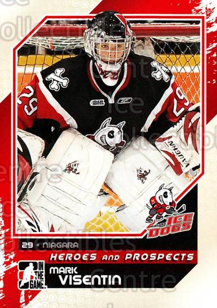 2010-11 ITG Heroes and Prospects #32 Mark Visentin<br/>22 In Stock - $1.00 each - <a href=https://centericecollectibles.foxycart.com/cart?name=2010-11%20ITG%20Heroes%20and%20Prospects%20%2332%20Mark%20Visentin...&price=$1.00&code=283111 class=foxycart> Buy it now! </a>